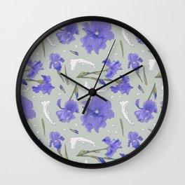 Iris + Coyote Wall Clock