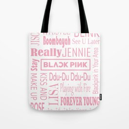 Black pink collage Tote Bag