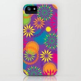 Spikeyflower Purple iPhone Case