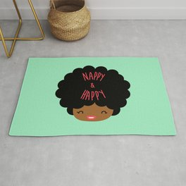 Nappy and Happy Afro Hair Rug
