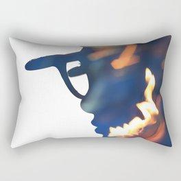 Fire Girl Rectangular Pillow