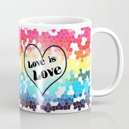 Love is Love Mosaic Pride Flag Design Coffee Mug