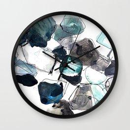 Rhapsody in Blues Wall Clock