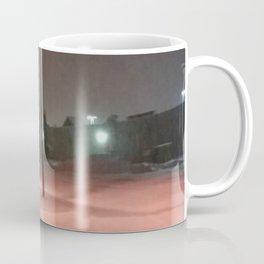 Pink lights and snowy nights Coffee Mug