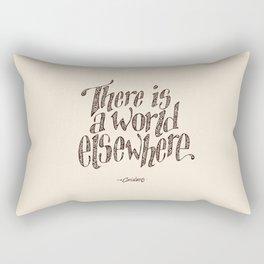 I turn my back. Rectangular Pillow