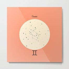 Gemini - Pink Metal Print