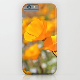 California Gold Poppies by Reay of Light Photography iPhone Case