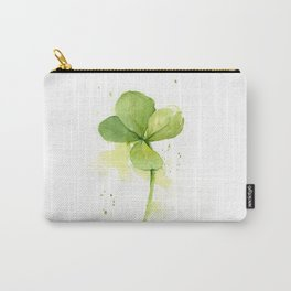 Clover Watercolor Four Leaf Clover Carry-All Pouch