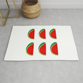 Check Out My Six Pack Tropical Summer Vibes Fruit Rug