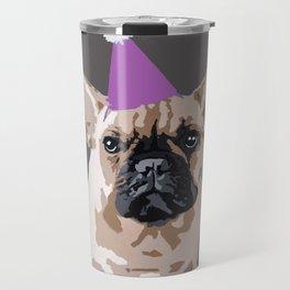 Milo on dark grey (pink) Travel Mug