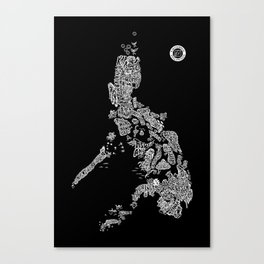 Paranormal Philippines (black) Canvas Print