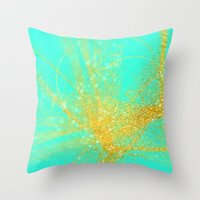 sparkle Throw Pillows featuring sparkle  by haroulita