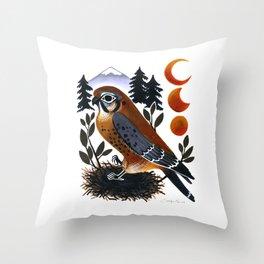 The Blue Ridge Kestrel Throw Pillow