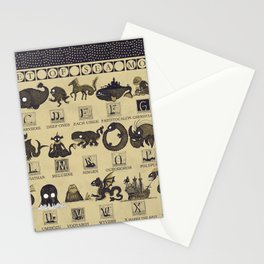 Alphabet of Sea Monsters Stationery Cards