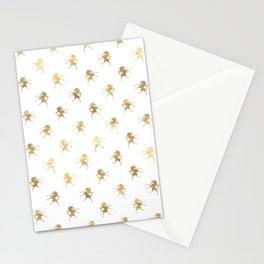 Gold Unicorn Pattern Stationery Cards