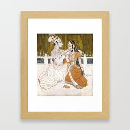 Krishna and Radha circa 1750 - Indian Art Framed Art Print