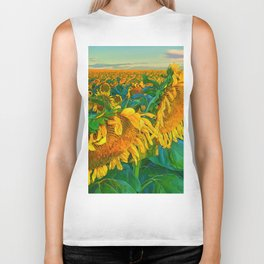 Sunflowers Biker Tank