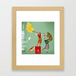 Oil or Flowers? Framed Art Print