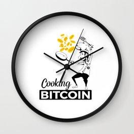 Cooking Bitcoin Wall Clock