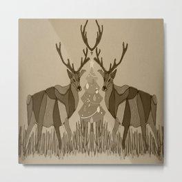 xmas deer Metal Print