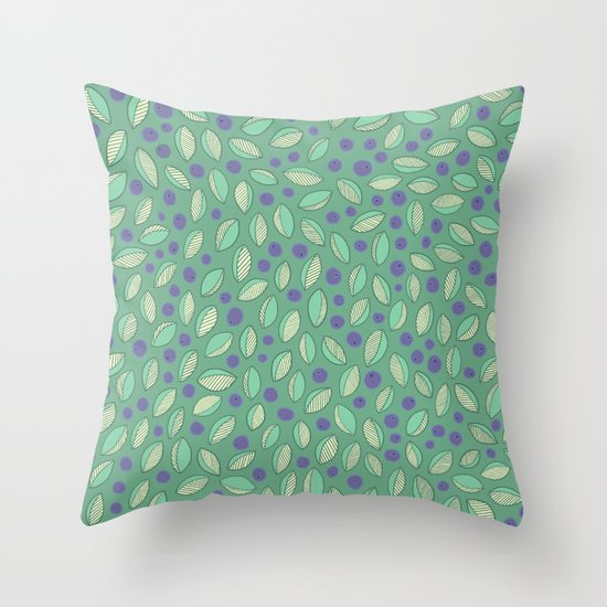Dreaming of Blueberries Throw Pillow