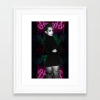 miley Framed Art Prints featuring MileY by yung.peach