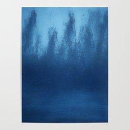 Cobalt Blue Ombre Poster