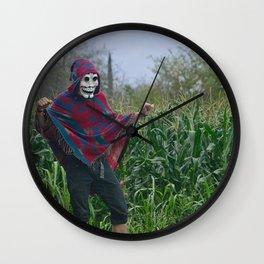 Mexican skull dancing Wall Clock