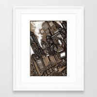 cityscape Framed Art Prints featuring Cityscape by David Miley