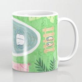 Green Tiled Bath drawing by Amanda Laurel Atkins Coffee Mug