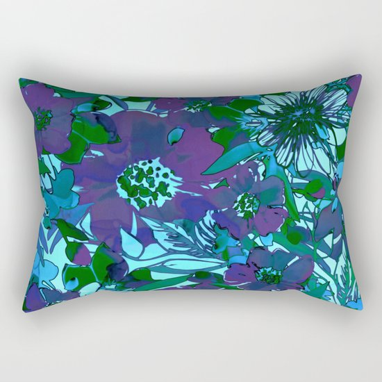 floral melodie in purple Rectangular Pillow