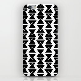 RIGHT AND WRONG: II BLACK AGAIN iPhone Skin