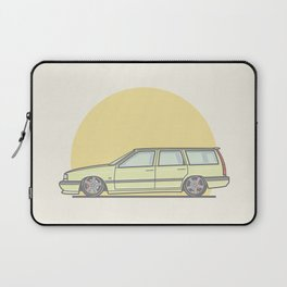 Volvo 850R Touring Vector Illustration Laptop Sleeve