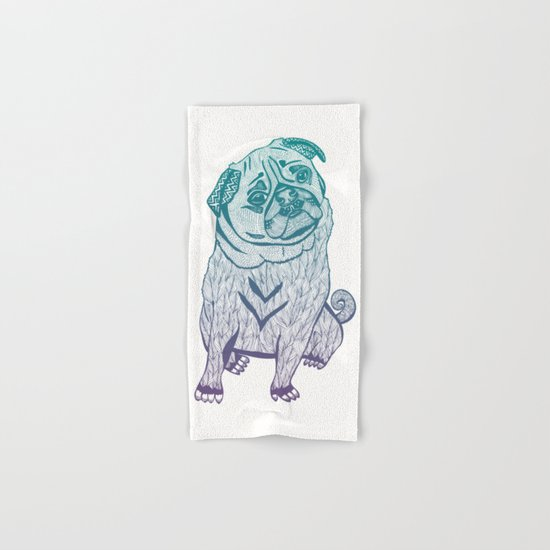 Duotone Pug Hand & Bath Towel