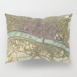Vintage Map of London England (1740) Pillow Sham