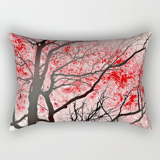 The Trees Know (red-black) Rectangular Pillow