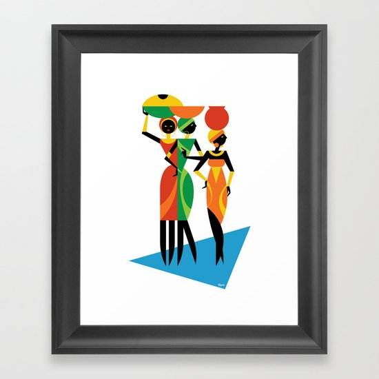 African Women Framed Art Print