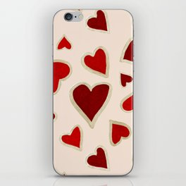 Ditsy dark hearts for lovers iPhone Skin
