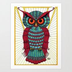 Faberge Owl Art Print