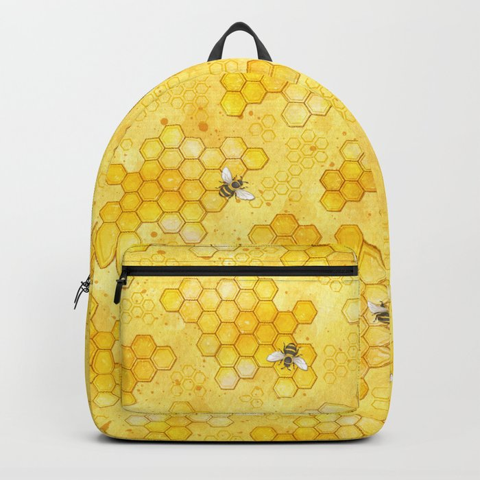 Meant to Bee - Honey Bees Pattern Rucksack