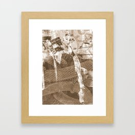 Industrial Woman Framed Art Print