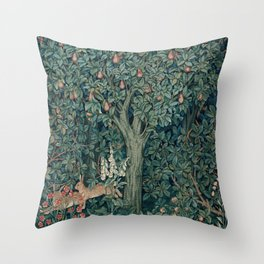William Morris Greenery Tapestry Part 1 Throw Pillow