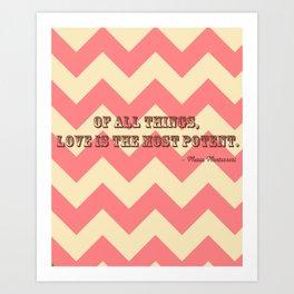Chevron Love Art Print