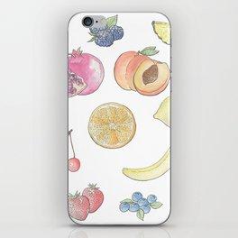 Watercolor Fruit iPhone Skin