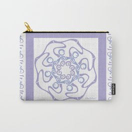 Hope Mandala with Border - Lavender White Carry-All Pouch