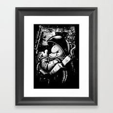 so long and thanks! (alternate version) Framed Art Print
