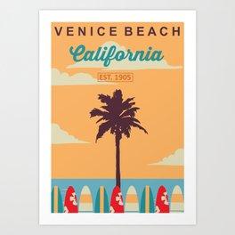 Venice Beach.  Art Print