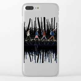 Stranger Abbey Road Clear iPhone Case