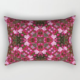 Spring blossoms kaleidoscope - Strawberry Parfait Crabapple Rectangular Pillow