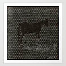 Black Dot Horse Art Print